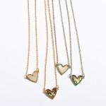 Wholesale mother Pearl Heart Necklace Rhodium Pendant Adjustable Extender