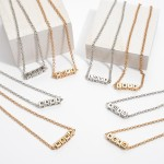 Wholesale mama Block Letter Necklace Adjustable Extender