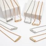 Wholesale xOXO Block Letter Necklace Adjustable Extender