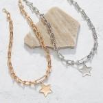 Wholesale chain Link Necklace Star Pendant Long