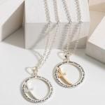 Wholesale short Necklace Cross Accent Pendant Engraved verse John Long