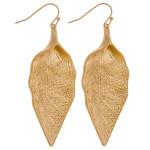 Wholesale metal leaf earrings