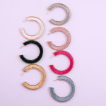 Wholesale thread wrapped open hoop earrings diameter