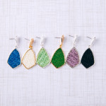 Wholesale raffia rattan woven drop earrings