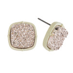 Wholesale druzy stud earrings diameter