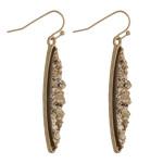 Wholesale skinny pointed oval druzy dangle earrings