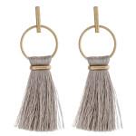 Wholesale fringe fan tassel bar stud drop earrings L