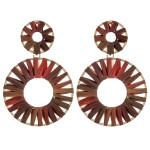 Wholesale ombre raffia wrapped statement dangle earrings