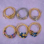 Wholesale multi strand star beaded color block springy stretch bracelet diameter