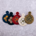 Wholesale seed beaded felt flower disc earrings diameter