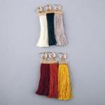 Wholesale fringe tassel huggie open hoop statement earrings