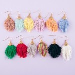 Wholesale fringe tassel dangle earrings
