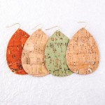 Wholesale cork teardrop earrings
