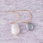 Wholesale pearl open hoop earrings