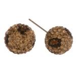 Wholesale leopard print rhinestone stud earrings mm diameter