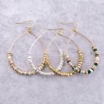 Wholesale multi metal beaded drop earrings L