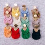 Wholesale doubled Fringe Tassel Hinge Drop Earrings L
