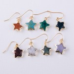 Wholesale semi precious star earrings