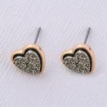 Wholesale druzy heart stud earrings cm