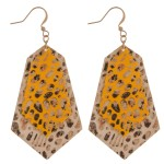 Wholesale faux leather animal print abstract earrings