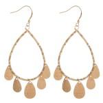 Wholesale seed beaded teardrop dangle earrings L