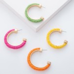 Wholesale raffia Color Open Hoop Earrings diameter