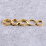 Wholesale dainty Gold dipped cut out textured huggie hoop earrings cm diameter