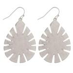 Wholesale metal leaf teardrop earrings L