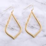 Wholesale metal filigree textured moroccan drop earrings