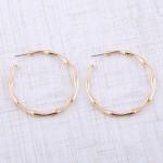 Wholesale metal bamboo hoop earrings diameter