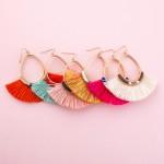 Wholesale fringe tassel spacer beaded teardrop statement earrings L