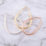 Wholesale large teardrop hoop earrings L