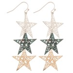 Wholesale filigree star dangle earrings L