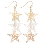 Wholesale filigree star dangle earrings L