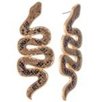 Wholesale snakeskin Statement Snake Earrings L