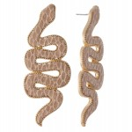 Wholesale faux Leather Statement Snake Earrings L
