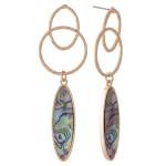 Wholesale abalone Link Drop Earrings L