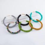 Wholesale seed Beaded Statement Hoop Earrings diameter