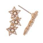 Wholesale rhinestone Star Ear Climber Earrings