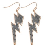 Wholesale thread Wrapped Lightning Bolt Drop Earrings L