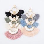 Wholesale two Modern Tassel Drop Earrings L