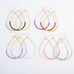 Wholesale half Half Dainty Beaded Teardrop Earrings L