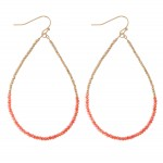 Wholesale half Half Dainty Beaded Teardrop Earrings L
