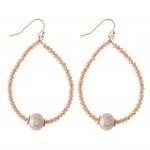 Wholesale faceted Beaded Teardrop Earrings Pearl Detail L