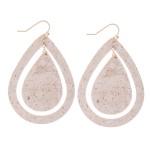 Wholesale cork Cut Out Teardrop Earrings L