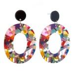 Wholesale resin Ring Drop Earrings L