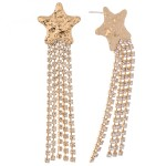 Wholesale rhinestone Tassel Star Drop Earrings L