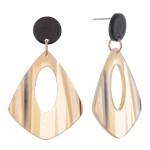 Wholesale resin Stripe Teardrop Earrings Glitter Accents L