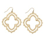 Wholesale two Quatrefoil Drop Earrings L