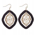 Wholesale nested Filigree Moroccan Cork Drop Earrings Gold Long